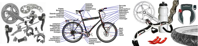 Fietsonderdelen Green Drive fietsenwinkel Oostrum - Venray
